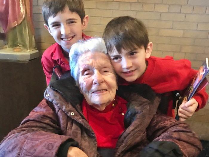 Felice and two great granchildren activity